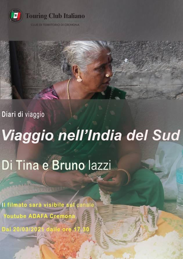 ADAFA Cremona ricorda l'evento di Sabato prossimo 20 Marzo alle 17,30 sul Canale You Tube Adafa