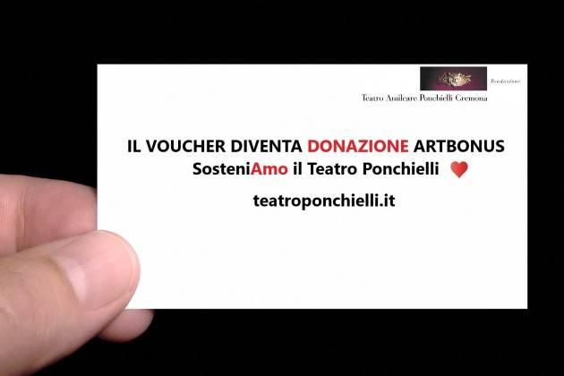 Sostenere il Teatro Ponchielli, piccolo gesto, significa sostenere la Cultura!
