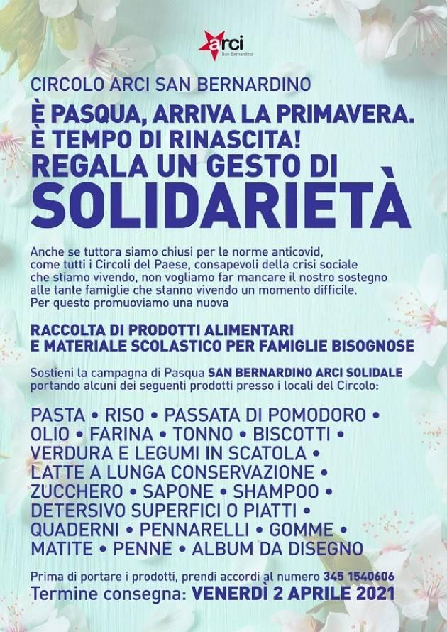 Arci San Benardino Crema promuove iniziativa E' Pasqua, arriva la primavera..