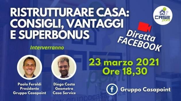 Cremona Casapoint lancia dirette Facebook con informazioni utili e consigli