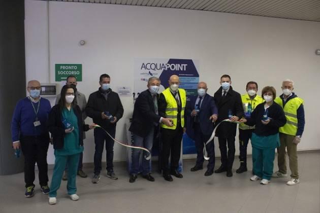 Cremona, Padania Acque : inaugurato Acquapoint Hub vaccinale CremonaFiere