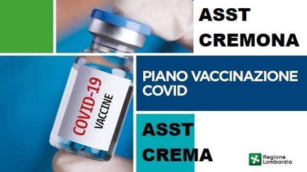 ASST Crema Chiamerà per vaccinazione per soggetti fragili e over80 non prenotati
