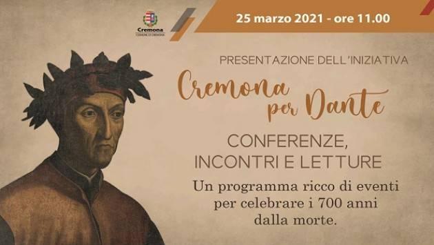 Cremona Presentata l'iniziativa Cremona per Dante. Conferenze, incontri e letture