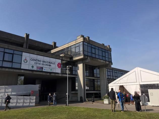 Crema Video inaugurazione Centro Vaccinale ex Tribunale con Bertolaso e Bonaldi