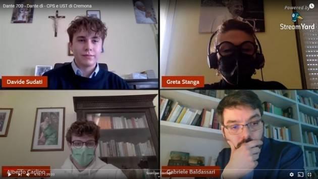 CPS-UTS Cremona Conferenza 'Dante 700' hanno partecipato 240 studenti (Video)