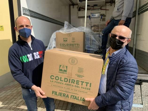 Gombito Coldiretti Pasqua, 500 quintali cibo Made Italy per famiglie bisognose