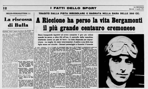 Gussola Angelo Bergamonti  4 aprile (1971) 50° anniversario della sua scomparsa
