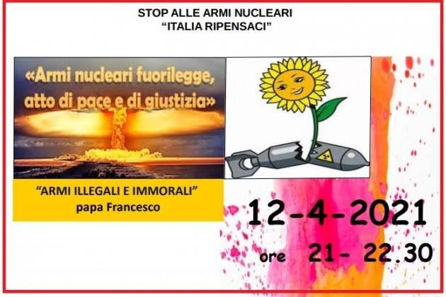 Pax Christi Cremona Armi nucleari fuori legge Incontro on line il 12 aprile