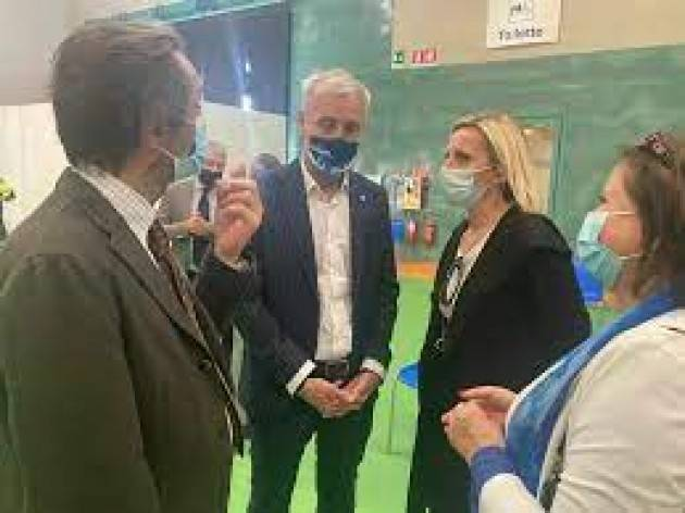 Il Presidente della Regione Lombardia Fontana in visita alla Fiera di Bergamo