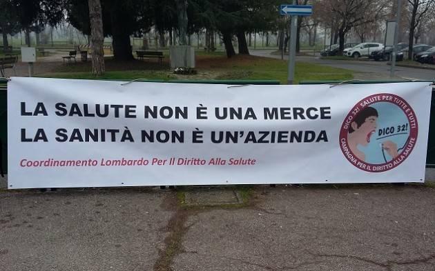 Cremona Sabato 10 aprile  Presidio per Diritto alla Salute p.zza Stradivari