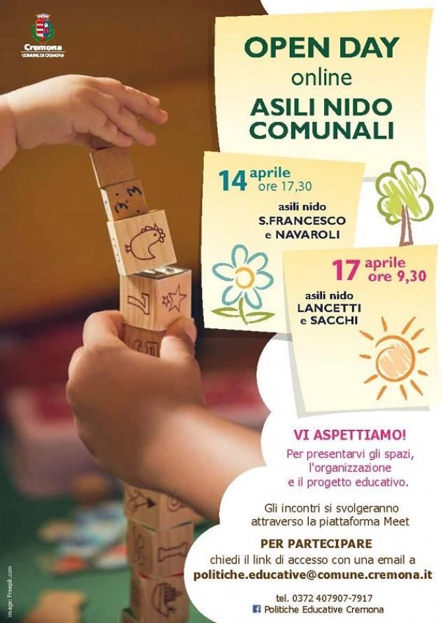 Cremona Asili nido comunali: iscrizioni e open day