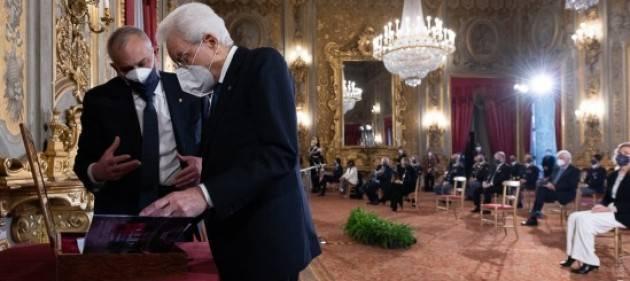 Il presidente della Repubblica Mattarella incontra la Polizia di Stato