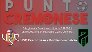 PUNTO CREMONESE: ore 14.00 i grigiorossi sfidano il Pordenone di Ciurria
