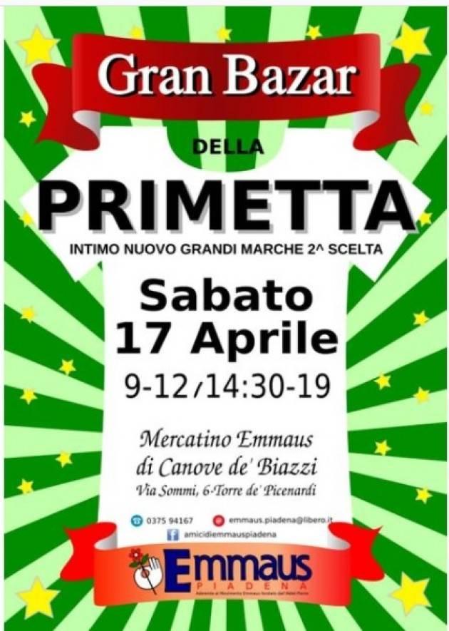 Emmaus TORNA PRIMETTA DI PRIMAVERA