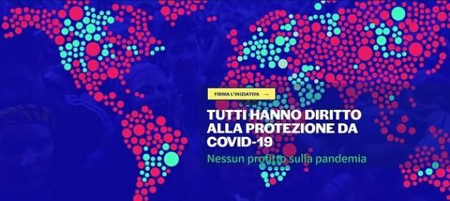 Firma Petizione Europea 'Diritto alla cura.Nessun profitto sulla pandemia'