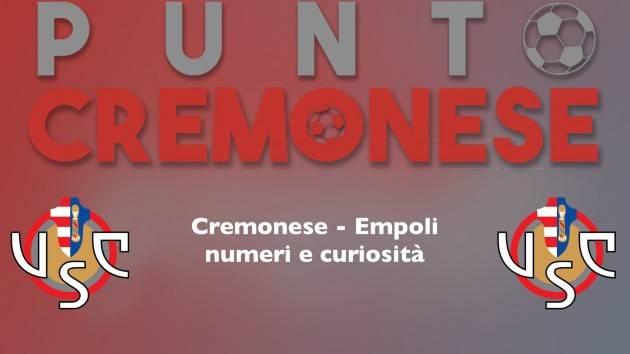 PUNTO CREMONESE: oggi allo Zini arriva la capolista Empoli, qualche dato sulla gara