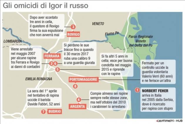 INIZIATO IL PROCESSO CONTRO IGOR IL RUSSO-NELLA FUGA ERA PASSATO ANCHE DA CREMONA