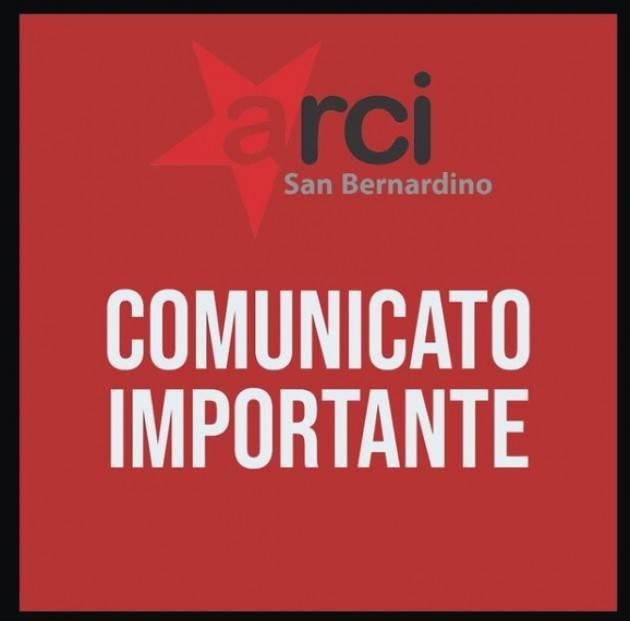Appello dell'ARCI San Bernardino . Il Circolo rischia la chiusura AIUTACI !