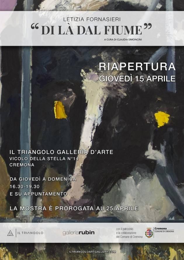 Riapre Galleria il Triangolo LETIZIA FORNASIERI  'DI LÀ DAL FIUME'