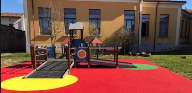 Soresina Laura Galbignani : ora all'asilo Ventura ci sono i giochi per tutti
