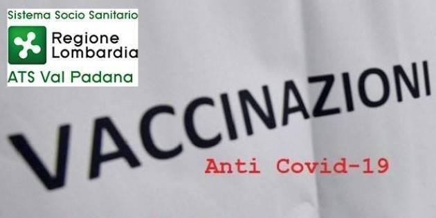 ATS Val Padana Cremona Totale vaccinati è pari a 104.234  al 14 aprile 2021