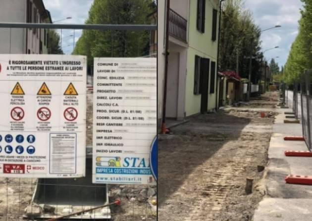 Gussola Ripartiti i lavori  per la riqualificazione di Via Madonnina