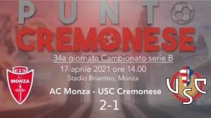 PUNTO CREMONESE: un 'uno/due' degno di un pugile basta al Monza per stendere i grigiorossi