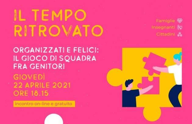 Cremona  'Il Tempo ritrovato' Appuntamento on-line con Daniele Novara