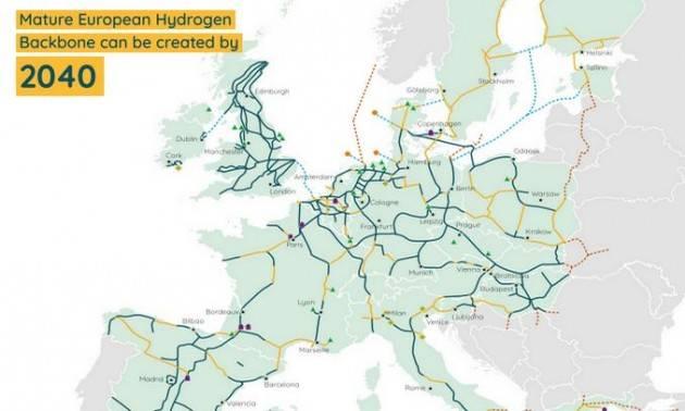 L'UE punta sull'idrogeno con una rete da 40mila km e 21 paesi