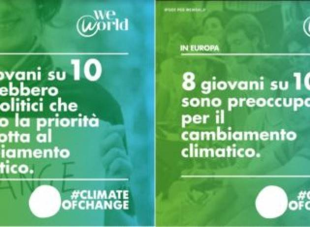 Oltre il 70% dei giovani europei pensa che i governi che non agiscano contro inquinamento e crisi climatica, danneggiano l'economia