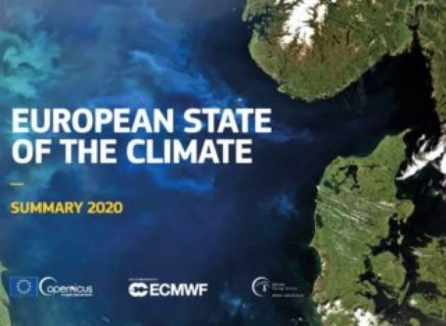 Stato del clima in Europa: il 2020 è stato l'anno più caldo mai registrato