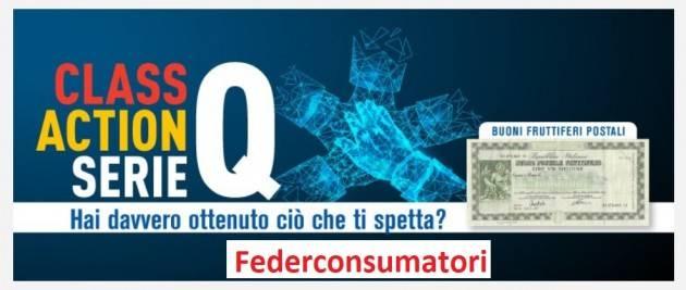 Federconsumatori Organizza class action per buoni postali