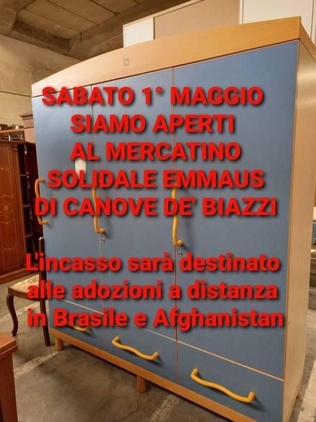 Emmaus Il mercatino solidale di Canove dè Biazzi aperto il 1° maggio