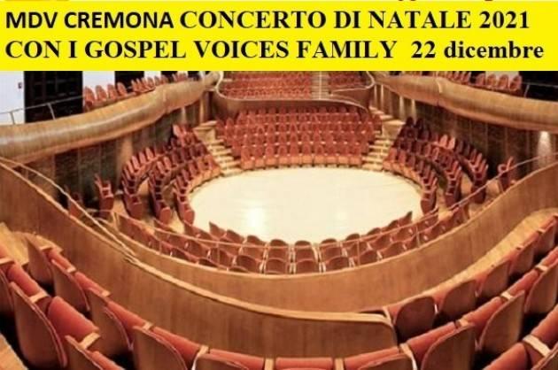 MDV Cremona  NATALE CON I GOSPEL VOICES FAMILY  22 dicembre