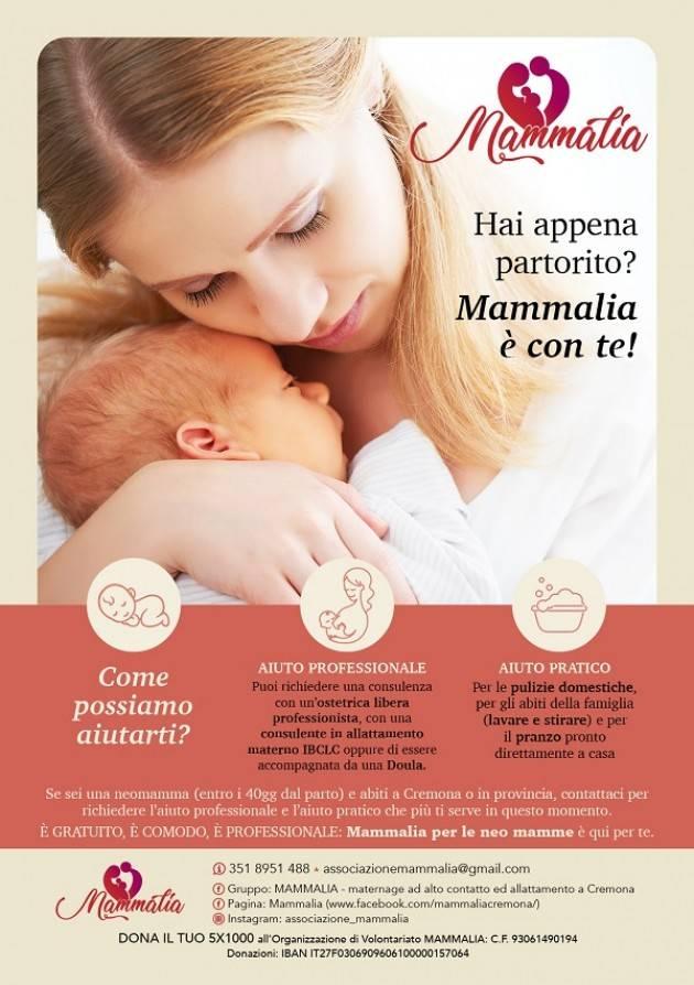 Cremona MAMMALIA PRESENTA IL PROGETTO PER LE NEO MAMME
