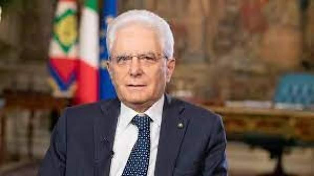 MATTARELLA: ''LE GIOVANI GENERAZIONI NON POTRANNO CHE ESSERE PROTAGONISTE DEL FUTURO DELL'ITALIA E DELL'EUROPA''