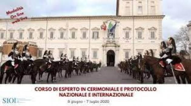 ESPERTO IN CERIMONIALE E PROTOCOLLO NAZIONALE E INTERNAZIONALE: LA SIOI APRE LE ISCRIZIONI PER IL CORSO WEB LIVE