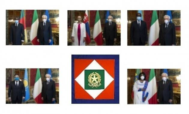 Mattarella riceve cinque nuovi Ambasciatori