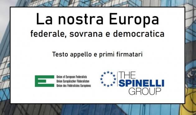 Sindaco, la sua firma all'Appello  'La nostra Europa'   Marco Pezzoni