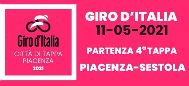 La 4° tappa del Giro d'Italia 2021 parte da Piacenza l'11 maggio alle 12 da P.zza Cavalli