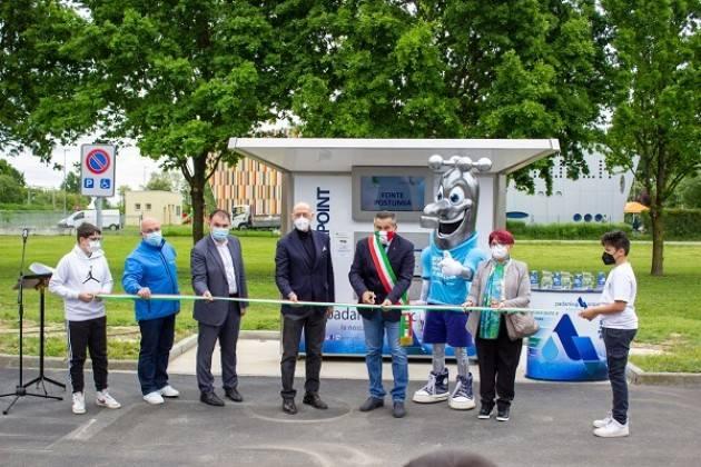 Padania Acque : Inaugurata 'Fonte Postumia' la casa dell'acqua di Malagnino