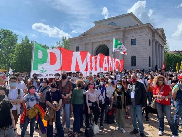 Milano DDL ZAN, MIRABELLI (PD): BELLA MANIFESTAZIONE