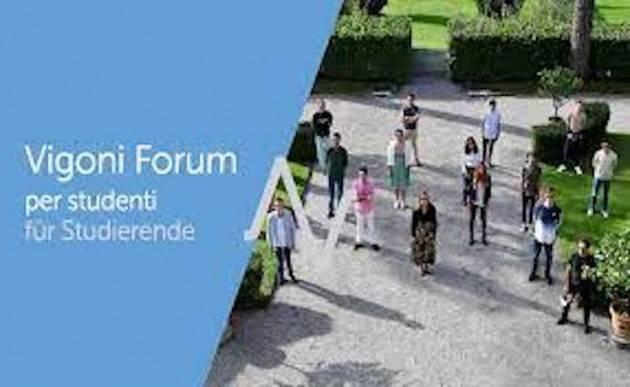 Bando aperto per il ''Vigoni Forum per studenti 2021''