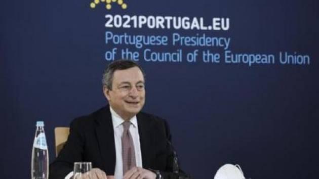 Draghi  voglio riaprire ma usando la testa