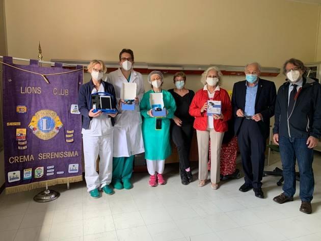 ASST Lions Club Serenissima Crema dona sistema di monitoraggio