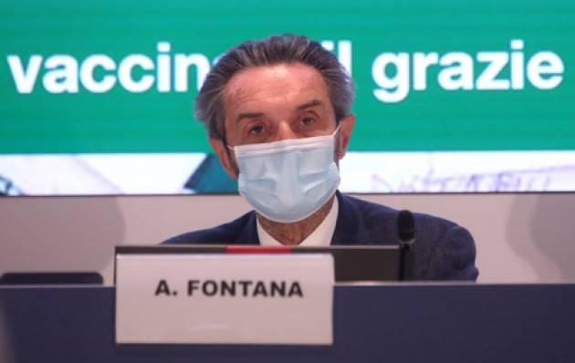 Fontana,possibile prima dose a tutti entro 10 luglio