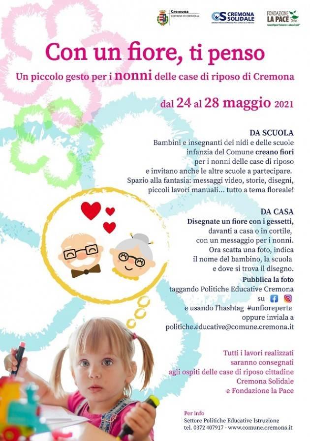 Cremona Con un fiore, ti penso, iniziativa di vicinanza  ospiti  RSA