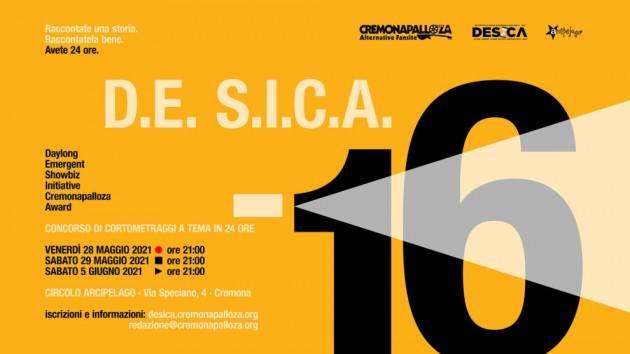 Arriva concorso D.E. S.I.C.A. 16 di Cremonapalloza 24 ore per girare un corto