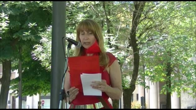 Cremona  Inquinata? Paola Tacchini legge lettera  inviata a  Mattarella