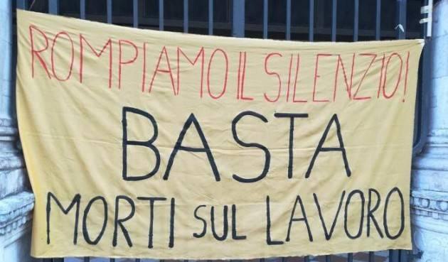 Cremona Lunedì 31 maggio giornata di mobilitazione  contro infortuni sul lavoro.